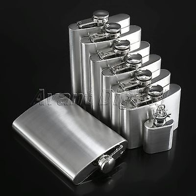 Portable Stainless Steel Hip Flasks Liquor Whiskey Alcohol Drink Flagon Keychain
