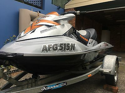 Seadoo RXT X 255 2008 Model Sea Doo on 2011 Single  Oceanic Trailer