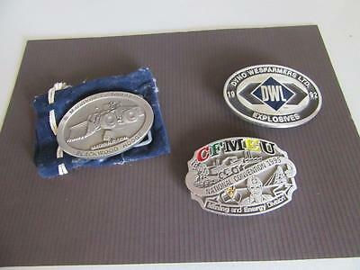 3 Mining Related Belt Buckles Lot 3