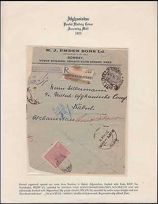 Afghanistan Rare Cover To Kabul With India G V