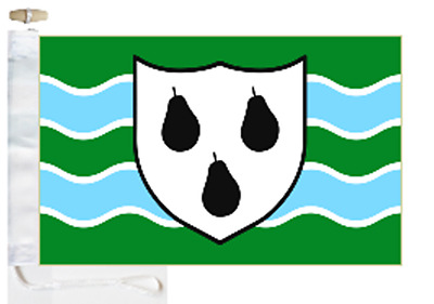 Worcestershire County Courtesy Boat Flag Roped & Toggled