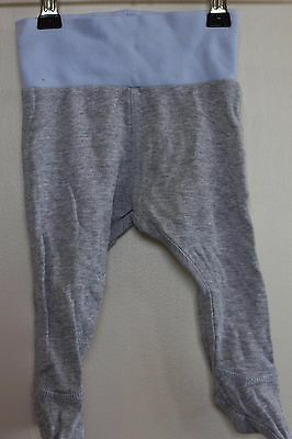Target Grey Blue Footed Leggings Pants Size 0-3 mths 000