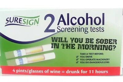 SURESIGN  2 ALCOHOL SCREENING TESTS -- 2 Test