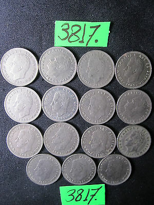 15 x Assorted 5 Pesatas COINS  Mar3817     from SPAIN 87  gms