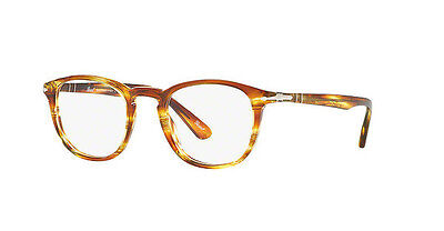 8fb76b49cf Eyewear Persol PO 3143 V 1050 47 21 145 brown striped yellow + hoya lens  clear