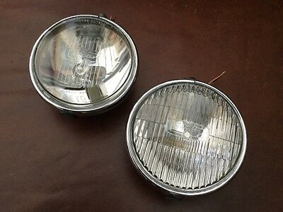 1960s driving lights. Lucas chrome matched 5 inch pair
