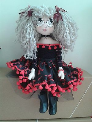 Othelia OOAK Collectible Handcrafted Cloth Steampunk Goth Doll by Mary Jenny