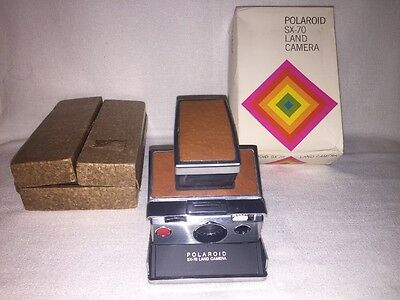 Vintage POLAROID SX-70 Land Camera Working Condition! In Box