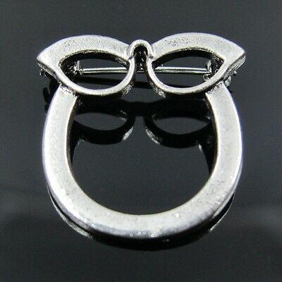 Cateye Cat Eye Eyeglass ID Pin Brooch Spectacles Sunglasses Specs Glasses Holder