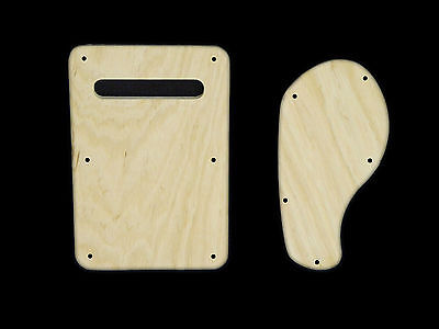 Alder Back Cover Set for GUITAR AND BASS BUILD UK STRATOCASTERS