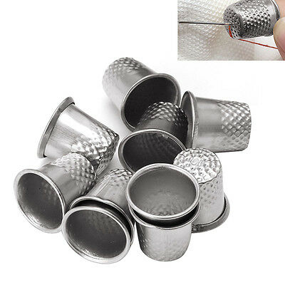 10 X Metal Thimbles - Finger Sewing Grip Shield Protector For Pin Needle