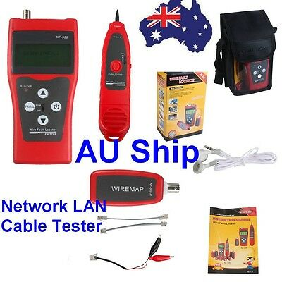NF308 Network Length Scanner LAN Phone Tester Wire Tracker LCD Display From AU
