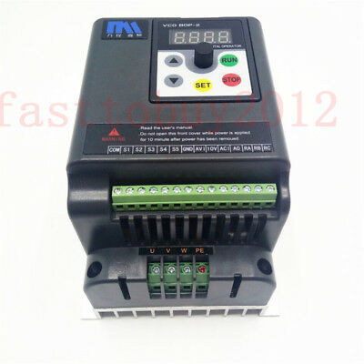 1.5KW 2HP VFD Asynchronous Motor Speed Controller 1Ph 220V Motor Drive 5M Cable