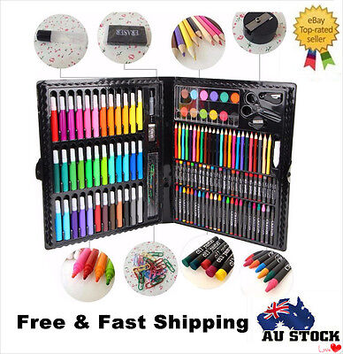 150pcs Drawing Painting Pencils Pens Brush Art Painting Set Kids Gifts