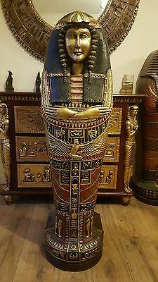 Egyptian Sarcophagus Queen Nefertiti Cabinet 7 Shelves 4 Ft Tall Rrp £999.00