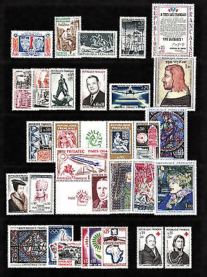 France 1964 Annee complète YT nr.1404-1434  NEUF SANS CHARNIERE