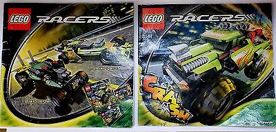 2x LEGO Instruction Manual Racers for set 8141 8138 8137 Books only No Parts