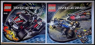 2x LEGO Instruction Manual Racers for set 8140 8139 8136 Book only No Parts