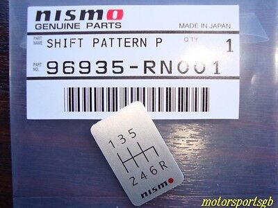 Nismo 6 Speed Shift Badge Nismo Gear Shift Pattern SKYLINE GTR R34 350Z SILVIA