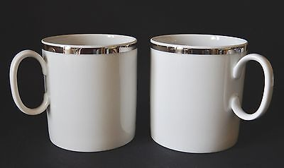 Two Thomas Silver Broad Coffee Cups