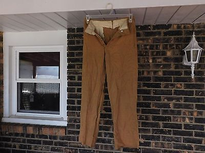 Ww2 Us Army Officers Tan Pants / Trousers Button Fly