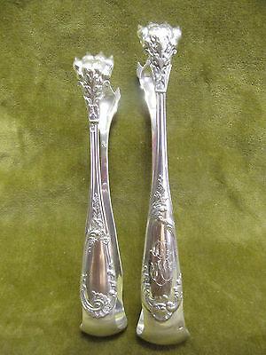 late 19th c french sterling silver 2sugar tongs rococo st 62gr & 71gr