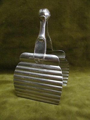 Art deco 1930  french silverplate Christofle asparagus tongs Ondulations L Lanel