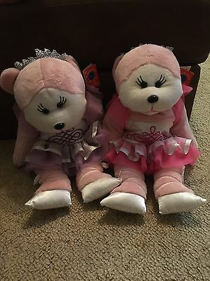 2x Large Big Sized Pirouette Ballerina Beanie Kids Both With Tags Pink & Purple