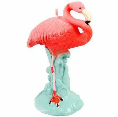 Novely Flamingo Shaped Candle Pink & Red