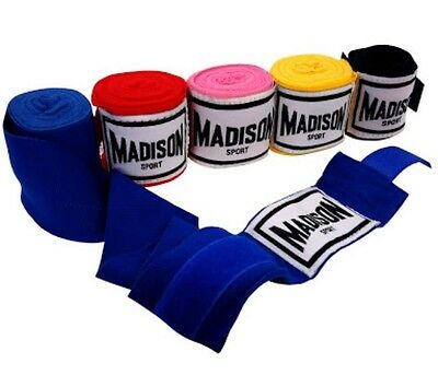 Hand Wraps, XL By Madison, Blue, 2 Pairs
