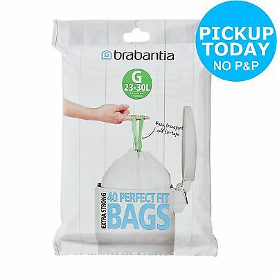 Brabantia 30 Litre Perfect Fit Bin Bags Size G - Pack of 40.