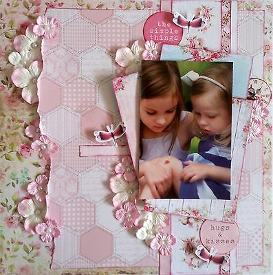 12 x 12 Handmade Scrapbook Page - The Simple Things