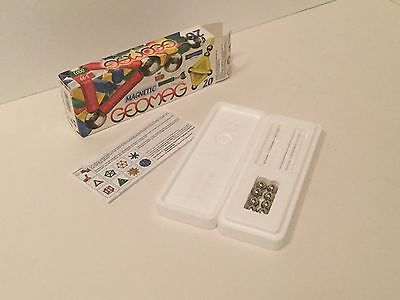 GEOMAG MAGNETIC - WHITE 20 Piece Box Set - white rods