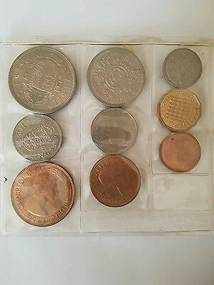 1953 Qeii Coin Set Of 9  From Farthing -Crown-Sealed