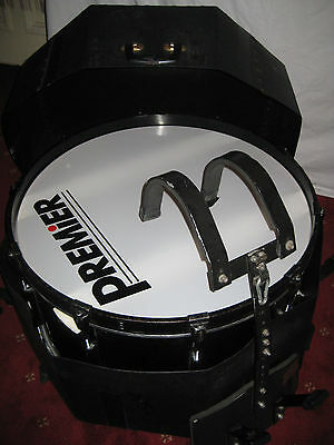 Premier drum with hard case and carry brace