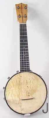 Vintage Banjo Uke Ukulele Fresh Set Up Nice Player Tone Ring Pot Etc.
