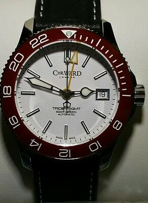 BNIB Christopher Ward Trident GMT 38mm 600m Ceramic - leather plus s/steel bands