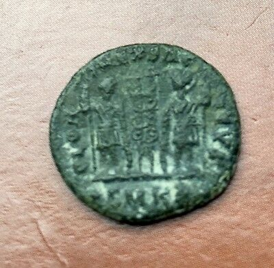 Uncleaned Roman bronze Imperial Constantinius I detailed coin