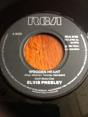 "Elvis Presley - Wooden Heart / Tonight Is So Right For Love 7"" single"