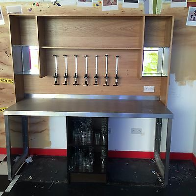 cocktail back bar , Cocktail Bar and Stainless Steel Table/ Bar