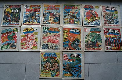 14 x Battle Action Comics - All 1978 - Good Condition - Bronze Age 39 Years Old