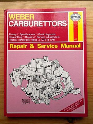 WEBER CARBURETTORS HAYNES MANUAL 79-91 LAND ROVER FIAT X19 VW PUG 205 ~ 12 pics