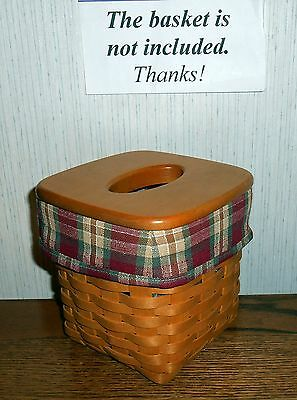Tall Tissue Basket Liner from Longaberger Orchard Park Plaid fabric! New!