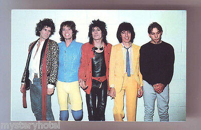 THE ROLLING STONES VINTAGE POSTCARD UNUSED 1980s CORAL-LEE SC18556 MADE IN USA