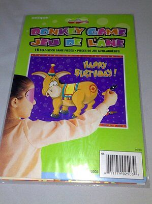 Pin The Tail on The Donkey Party Game Great Party Fun for Up to 16 Kids