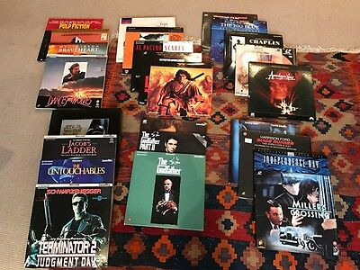 Laser Disc Collection of 27 titles including Star Wars and Godfather Trilogies.