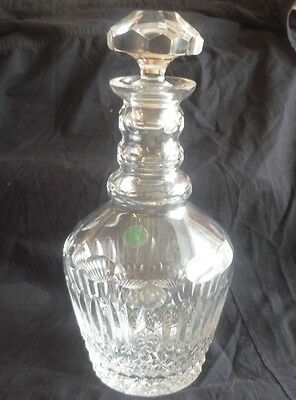 Rare Wedgwood Galway 3 ring neck crystal decanter - Antique Glass 1900's Vintage