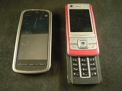 A Nokia 5230 and 6280 for spare parts - faulty - not working