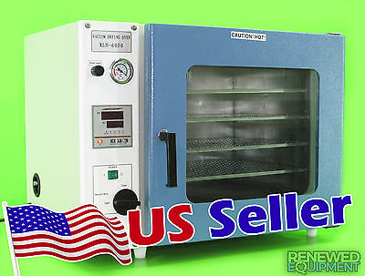 1.9 Cu Ft 16x14x14 Vacuum Oven w/ 3 Sided Heating & 4 Shelves - 1 Year Warranty