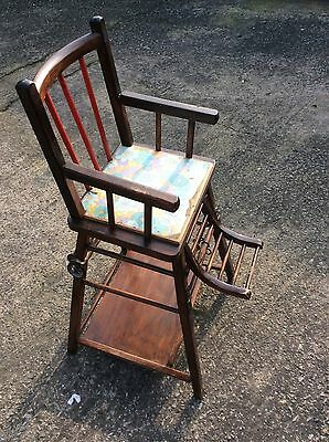 Antique French Child's Metamorphic High Chair